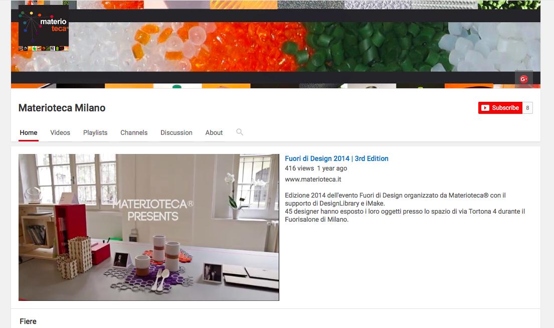 Materioteca® approda su Youtube