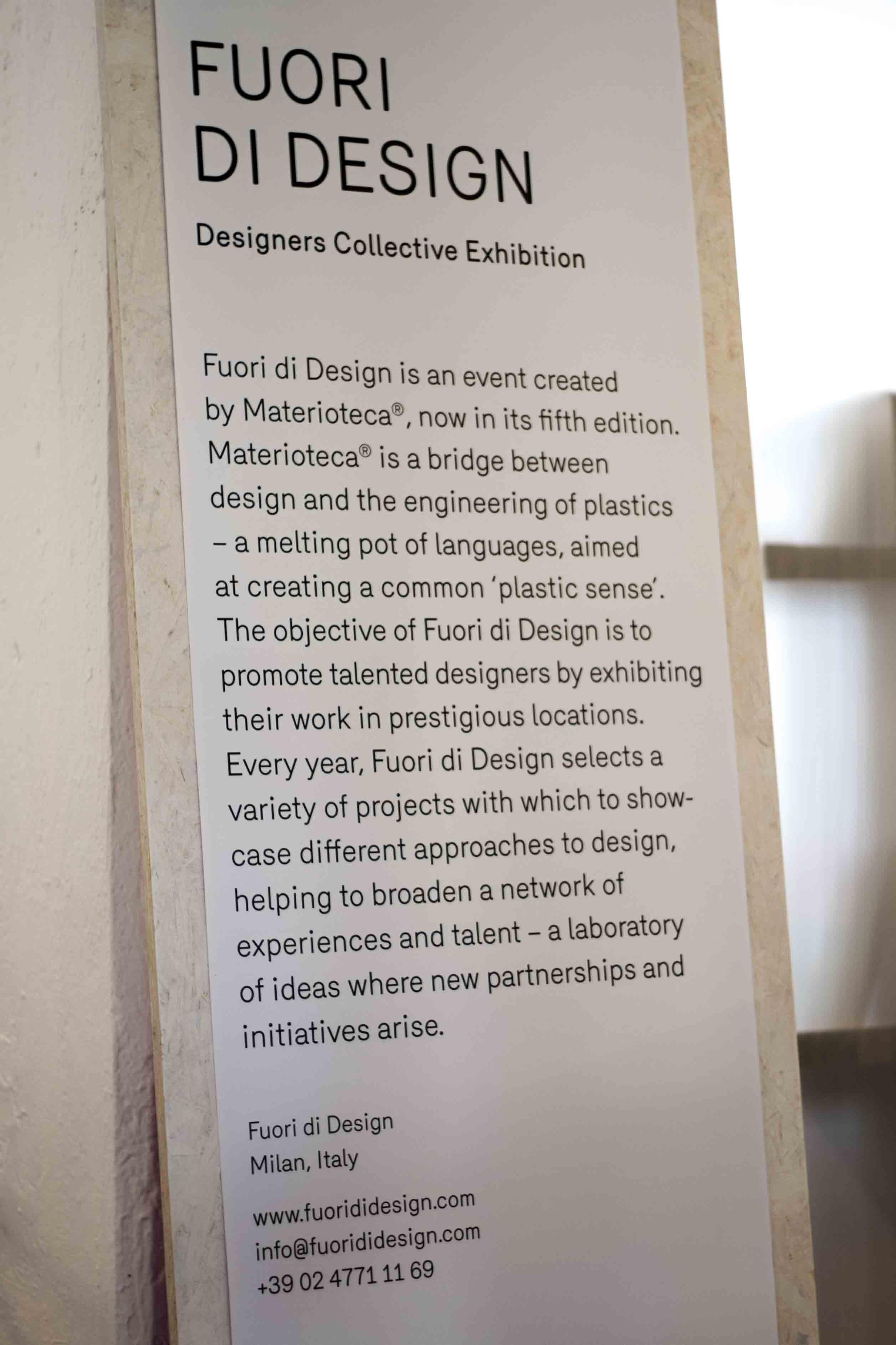 Materioteca a Fuori di Design 2016